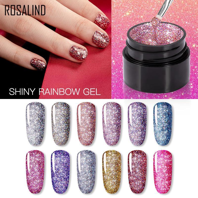 NEW Gel Nail Polish Neon Rainbow Hybrid Varnish 5ML Nail Art Gel Paint Set For Manicure Semi permanent Base top Gel Lak