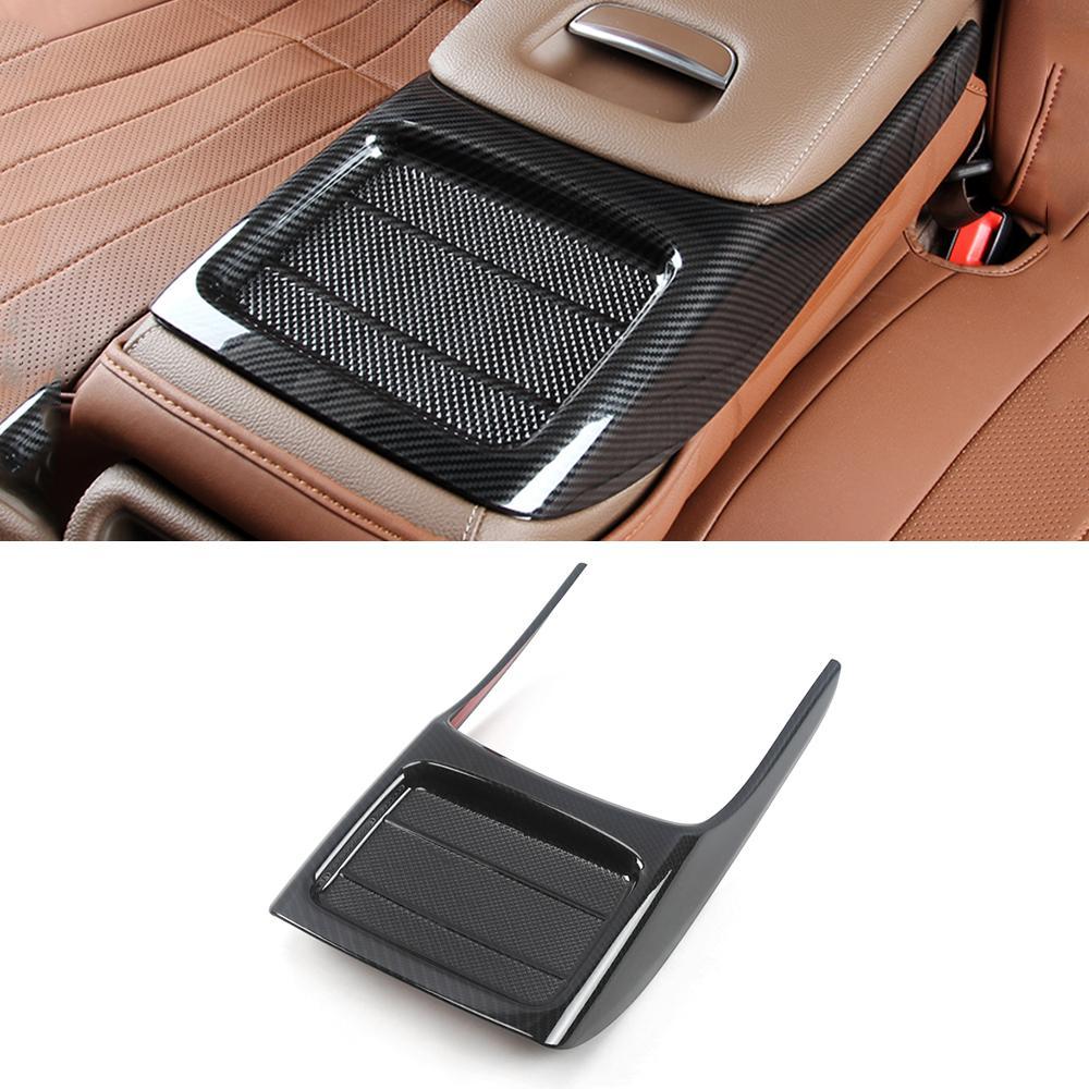 Voiture Accessoires Porte arrière Coupe Accoudoirs Garniture Couverture autocollant cadre intérieur Décoration pour Mercedes-Benz Classe E W213 2016-2020