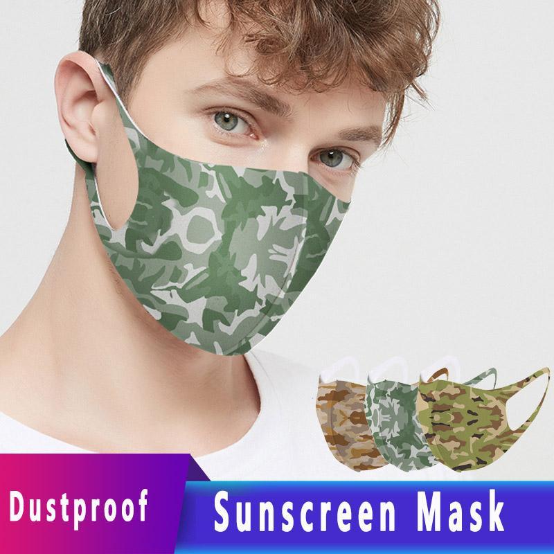Kamuflaj Yüz Maskesi 2020 İlkbahar Yaz Yeni toz geçirmez Nefes Yıkanabilir Anti-sis Güneş kremi Yeniden kullanılabilir Yüz Maske Ücretsiz Kargo