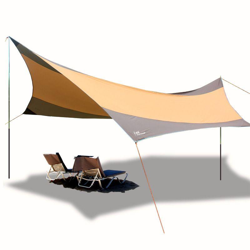 Высокое качество 210D Крупногабаритная Солнцезащитный непромокаемые Железные Поляки Anti-UV 550 * 560CM ВС Укрытия Бич Палатка Открытого кемпинг тент