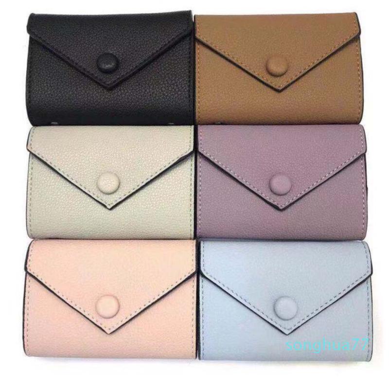 Diseñador monederos Monederos Mini paquete de la tarjeta del bolso cartera de cuero titular de la tarjeta de color carpeta de múltiples monedero de la señora bolsillo con cremallera con la caja clásica