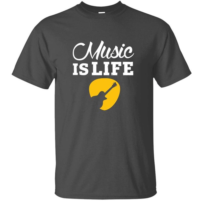 Komik Müzik - Müzik Is Life! Erkek Pamuk Grafik Erkek Komik Erkek tişörtleri 2019 Büyük Boyutu 3XL 4XL 5XL için Tişört