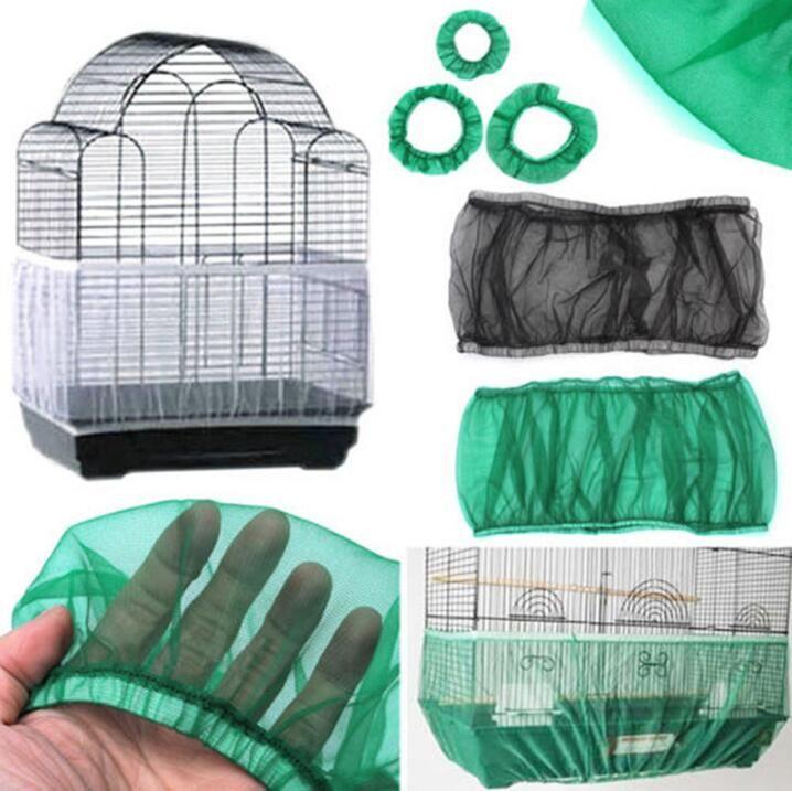 Semente Nylon malha da gaiola de pássaro Capa Shell saia Net fácil limpeza Catcher Guarda Bird Cage Acessórios Airy malha Parrot Bird Cage BWF244 Net