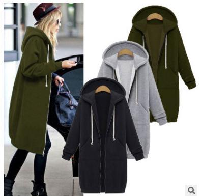 Outono novos modelos 2020 das européias e americanas mulheres mais veludo soltas modelos explosão camisola casaco cardigan com capuz