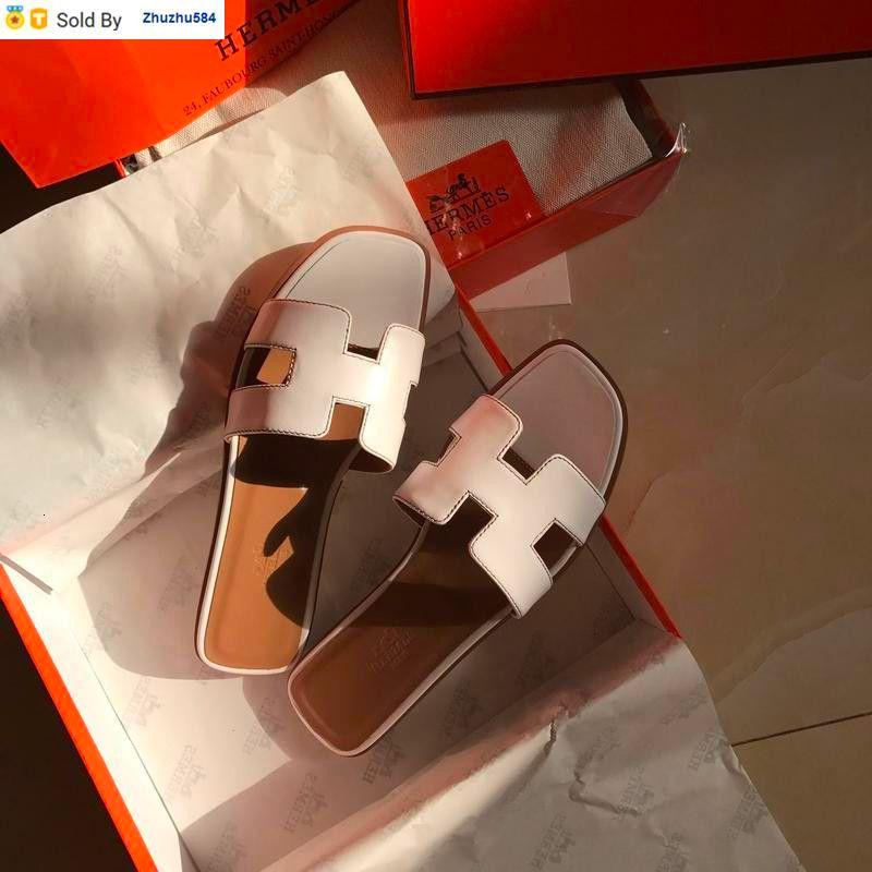 8A5D 240212313 clásico color de piel neta informal hecha a mano a pie de tenis deslizadores de las sandalias mulas Diapositivas Tangas