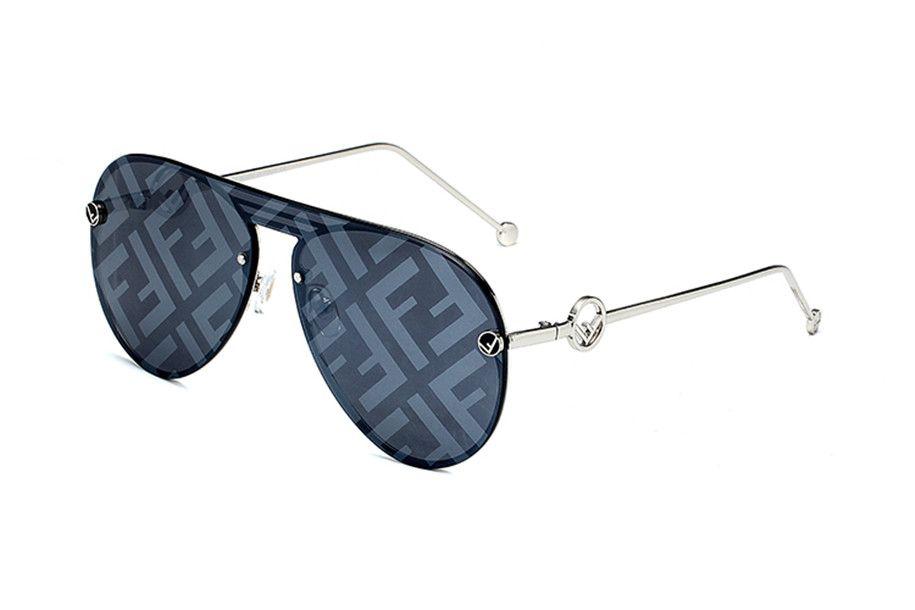 2020 Super A serie al estilo de moda de las señoras de protección solar UV400 lente de cristal gradiente marco de la placa de moda del espejo de la moda de alta calidad Fendi