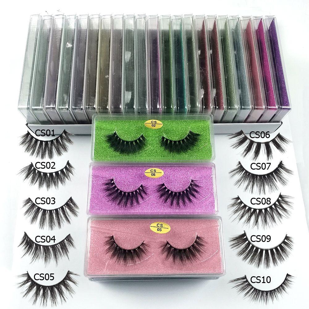 Großhandel 3d Nerz falsche Wimpern 10 Stil flauschige wispy gefälschte Wimpern natürlichen langen Make-up Augenwimpernverlängerung in loser Schüttung