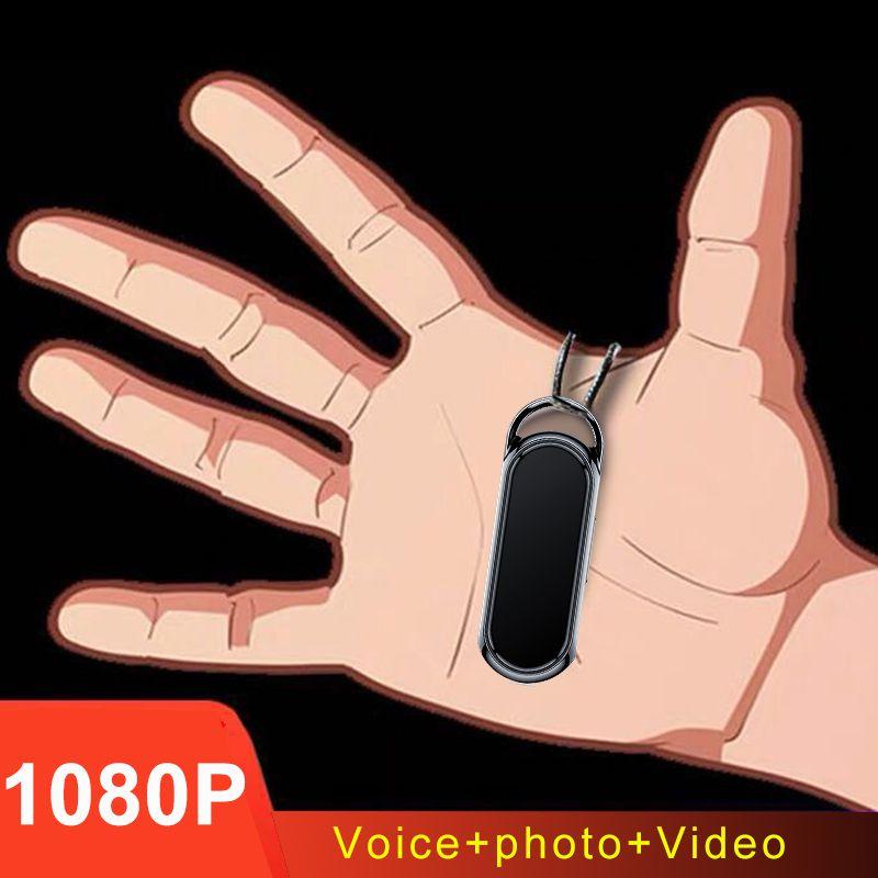 Llavero Nacklace largo tiempo de grabación de voz de audio y vídeo 1080P pluma Foto grabadora HD mini cámara mini DV DVR videocámara de Seguridad