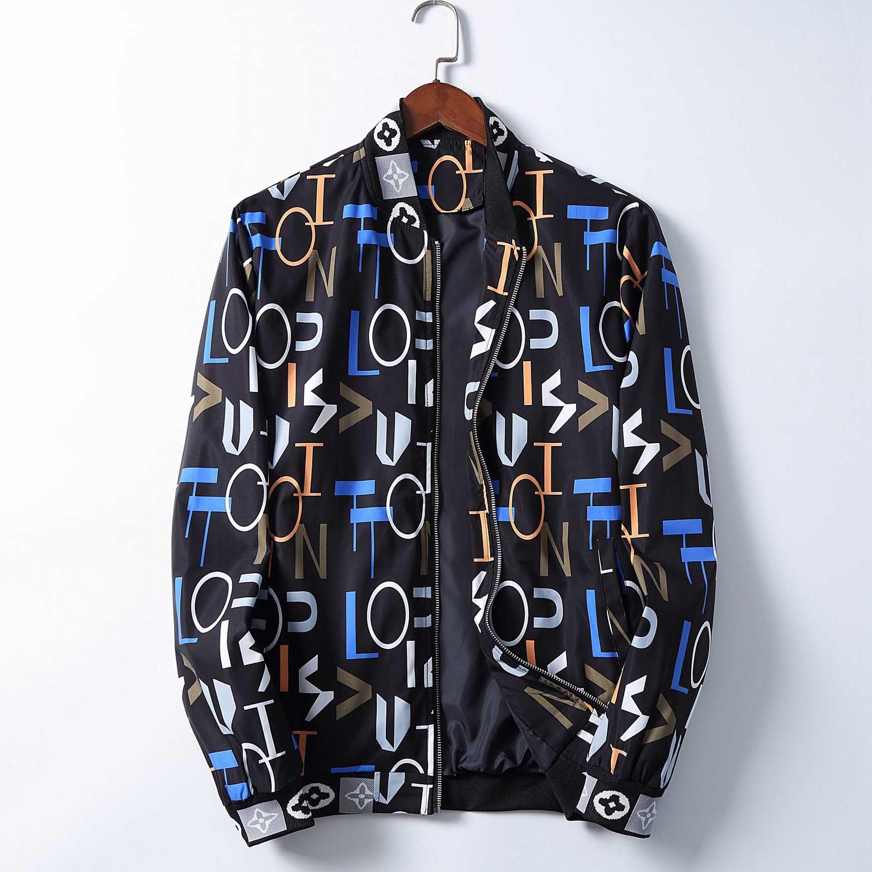 Hombres de diseno chaqueta con capucha cazadora chaqueta para capa de los hombres de las mujeres del invierno del otoño de la cremallera prendas de vestir exteriores de la chaqueta para hombre Imprimir M-XXXL