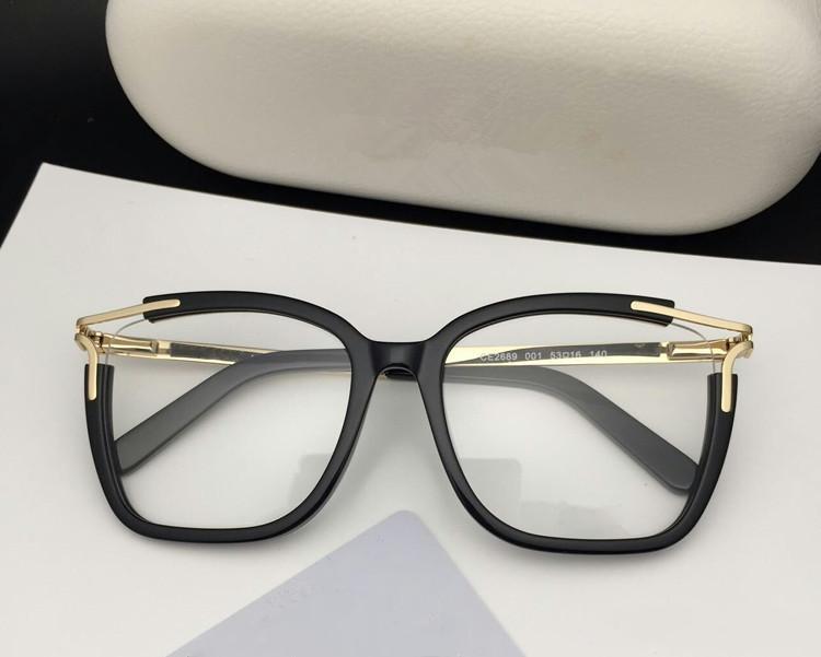 2020 Qualtiy CE2689 mujeres elegantes las gafas grandes de metal marco cuadrado y de casos y juego completo pura-tablón para la prescripción galssses OEM