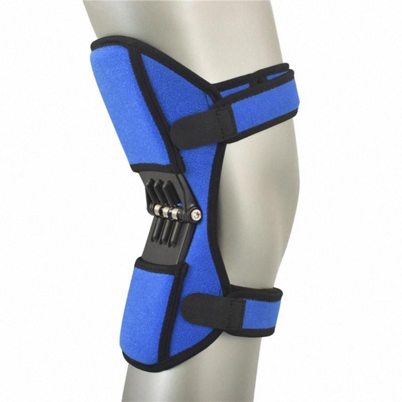 Protector de rodilla Conjunto de Apoyo rodilleras transpirable antideslizante elevador hidráulico de rebote pads Primavera Fuerza Leg Protector ZMVr #