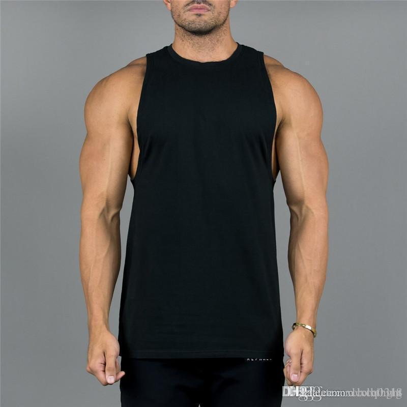 Livraison gratuite Explosion Vest Men'S Sport Vest Casual formation respirante Tops T-Shirt manches Casual Fitness Gilet T-shirts