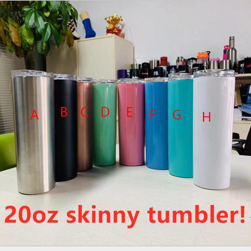 غطاء الجملة وتعزيز مزدوجة الجدار فراغ معزول 20oz 30oz نحيل الفولاذ المقاوم للصدأ البهلوان مع BPA الحرة