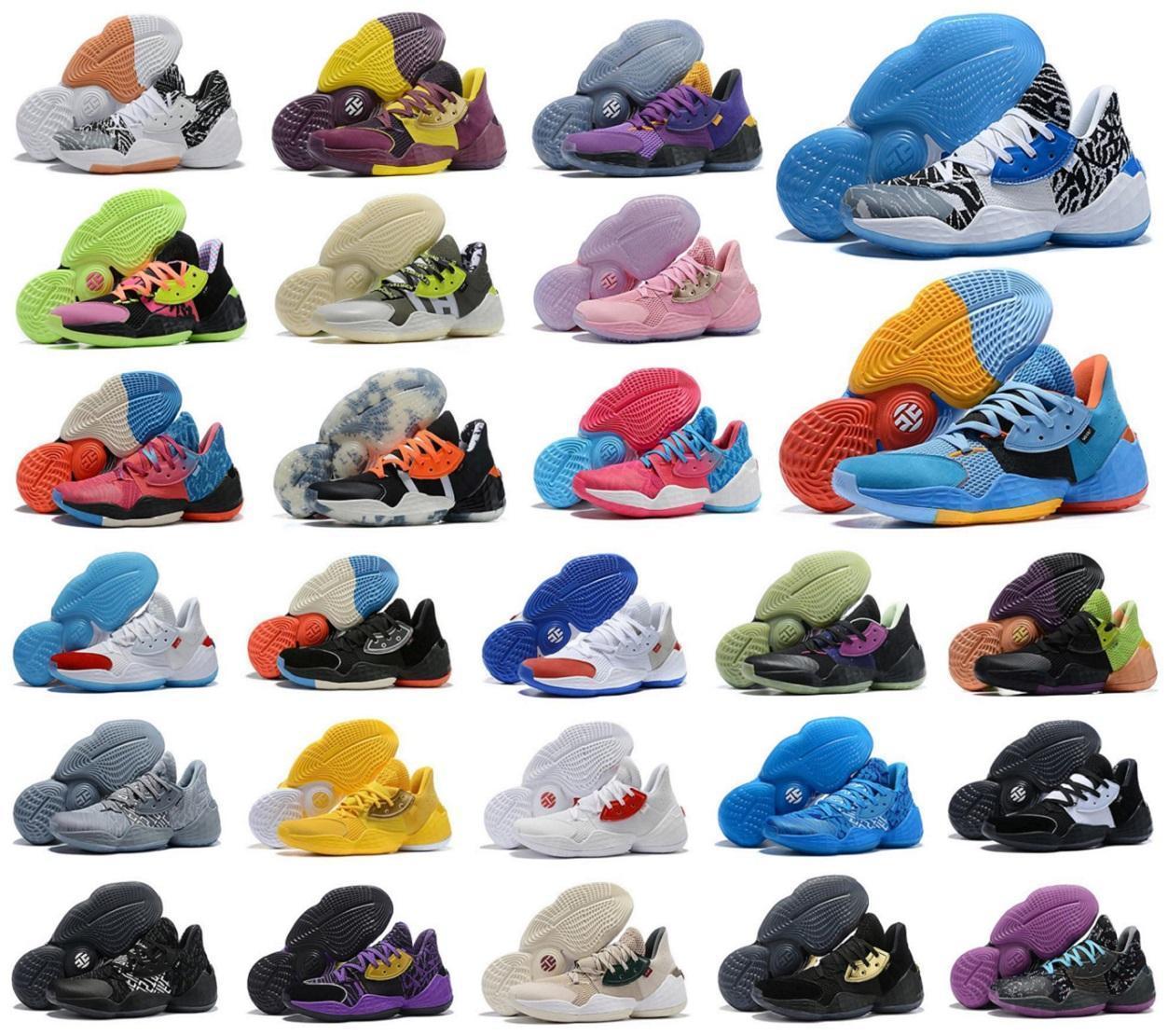 2020 Новое прибытие Харден значок обувь Vol.4 по баскетболу среди мужчин MVP Спортивная обувь Джеймс LS PK Бред Черный Белый ботинки тапок uy2ve46823 #