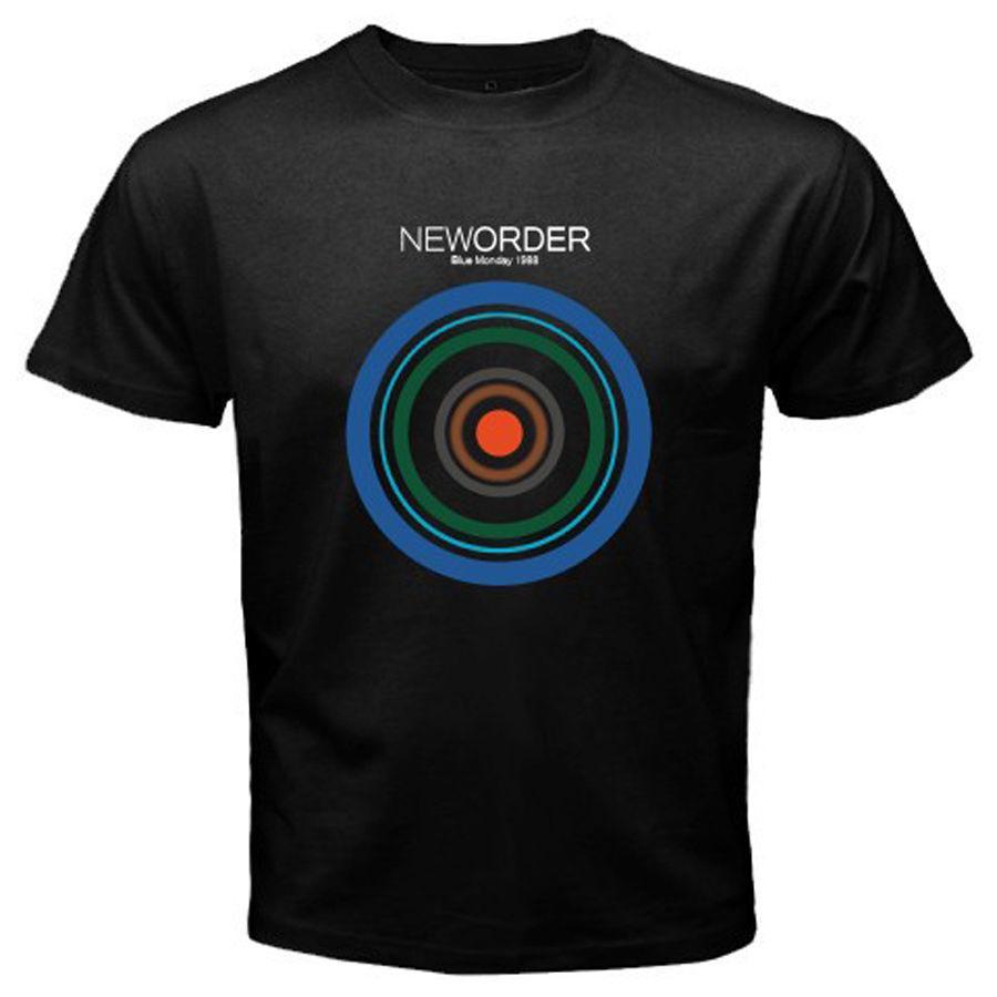 Yeni Sipariş Blue Monday 1988 Rock Band Erkek Siyah Tişört Boyutu S-3XL Yaz Men Tişörtlü% 100 Cott @ üzerinde 2020 Yeni Marka Baskı