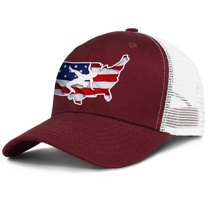 ABD Güreş erkek ve kadınlar ayarlanabilir kamyon şoförü meshcap serin şık baseballhats Amerika Bayrağı Altın Logo Pembe Gay kişiselleştirilmiş çıkışı teslimat
