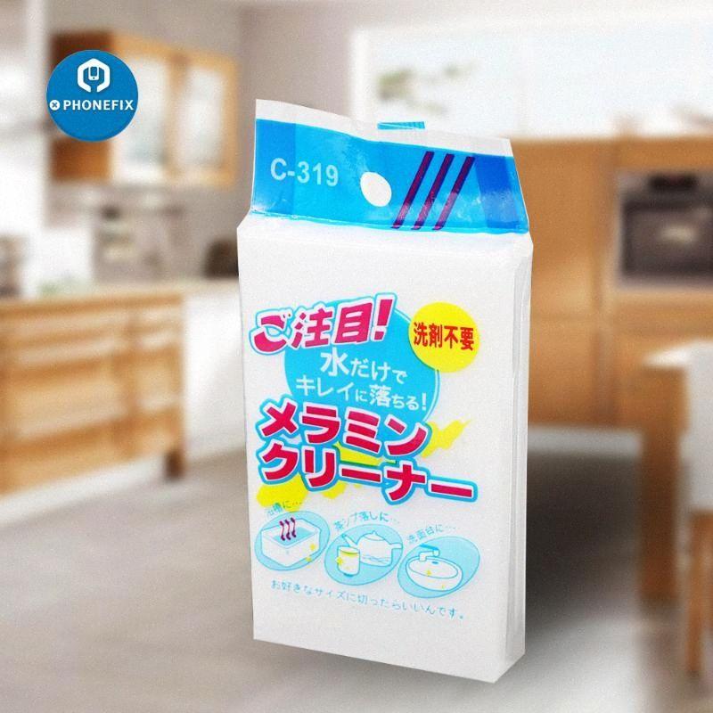 5pcs / lot Cleaner Magic White éponge Gomme multi-fonctionnelle Mousse de nettoyage mélamine Cuisine Pad pour la maison Nettoyage 100x60x20mm r70w #