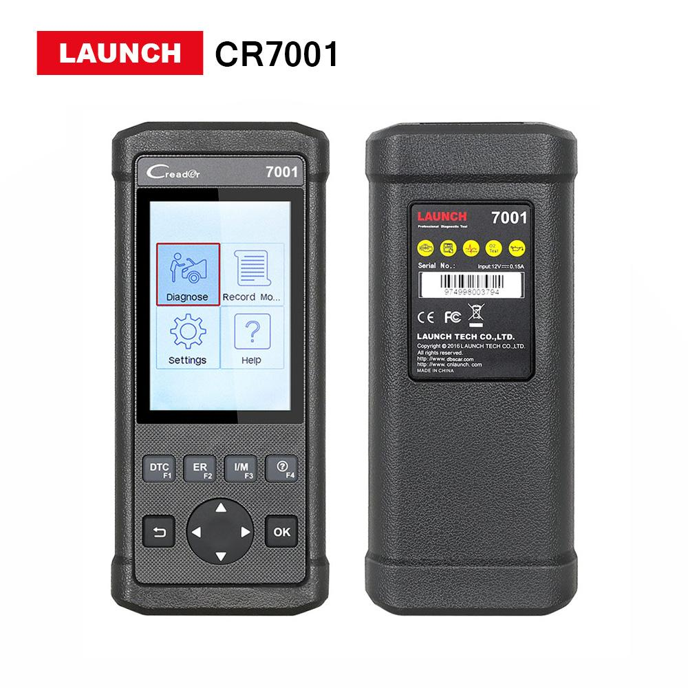 LAUNHC CR7001 Car Diagnostic tool Creader 7001 OBDII OBD2 Code Reader Scanner with Oil reset lifetime free update online
