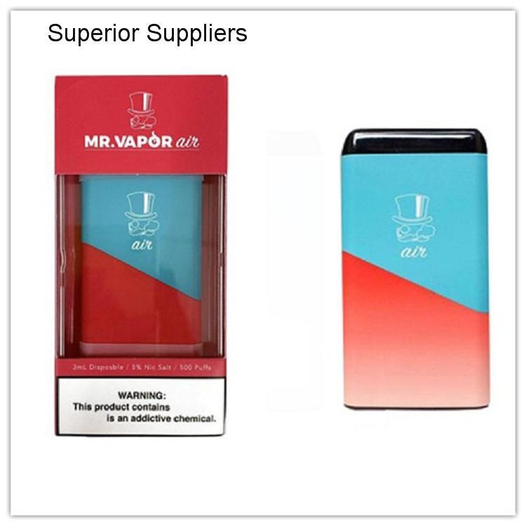Superior Suppllier guten Preis Neueste MR VAPOR Luft Einweg Vape Geräte Puff Verpackung Pod Starter Kit 280mAh Batterie 3 ml Kartuschen
