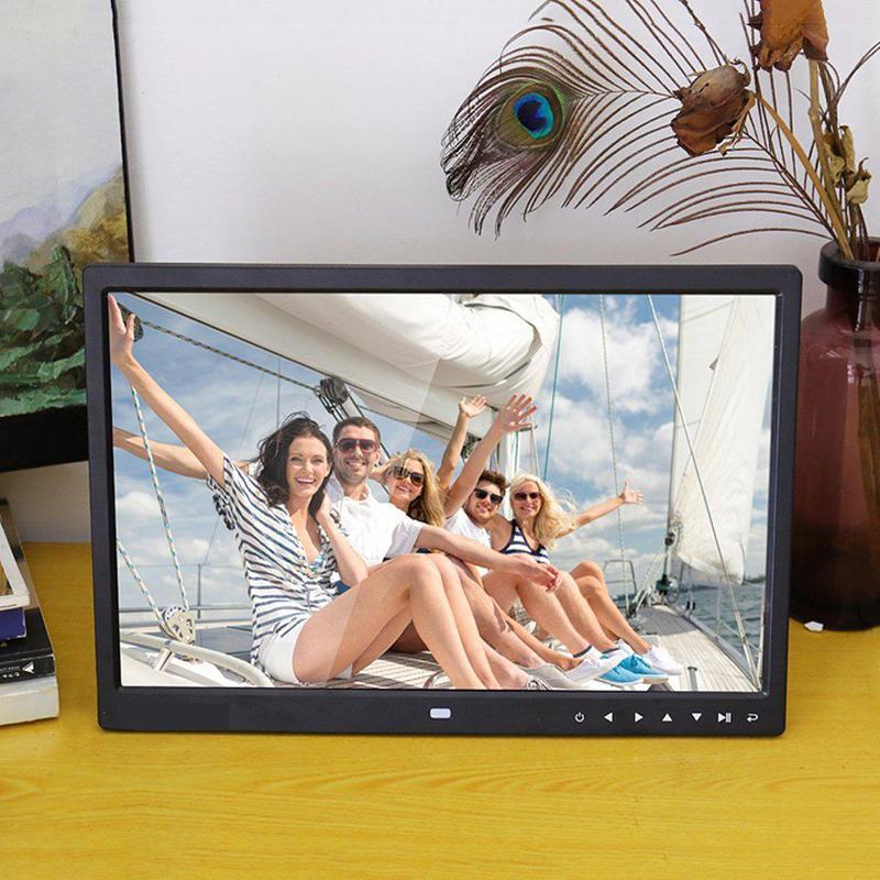 BEESCLOVER Digitaler Bilderrahmen 15 Zoll 1280x800 HD Auflösung 16: 9 Breitbild-Bildschirm klar und deutlich anzeigen r29