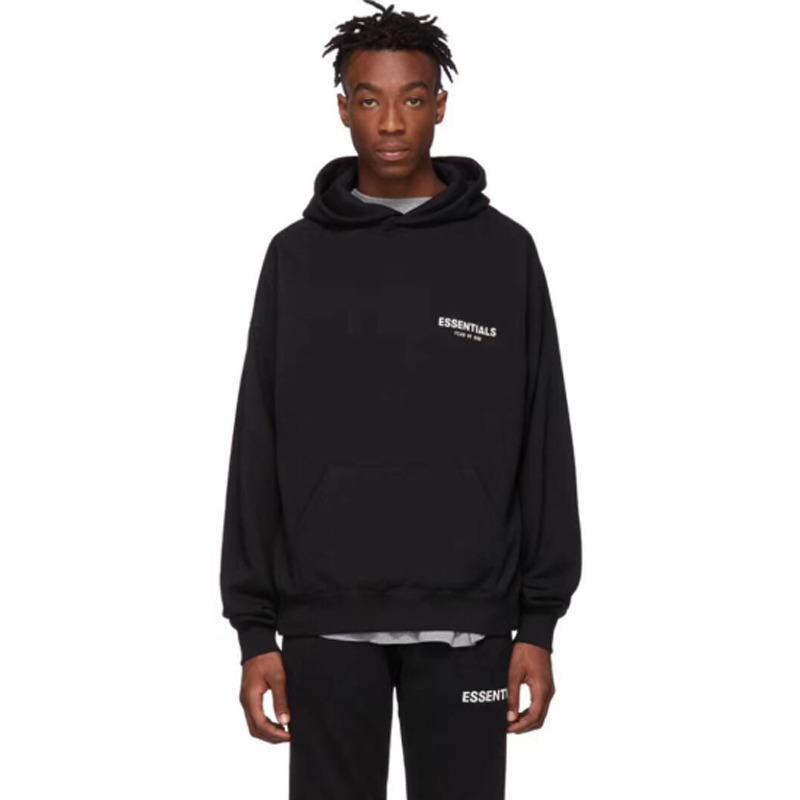 19SS Essentials-PulloverHoodies Sweatshirt-Buchstabe gedrucktes Paar Outfit arbeiten mit Kapuze beiläufige Straße Outwear Fest Hoodies HFHLWY010