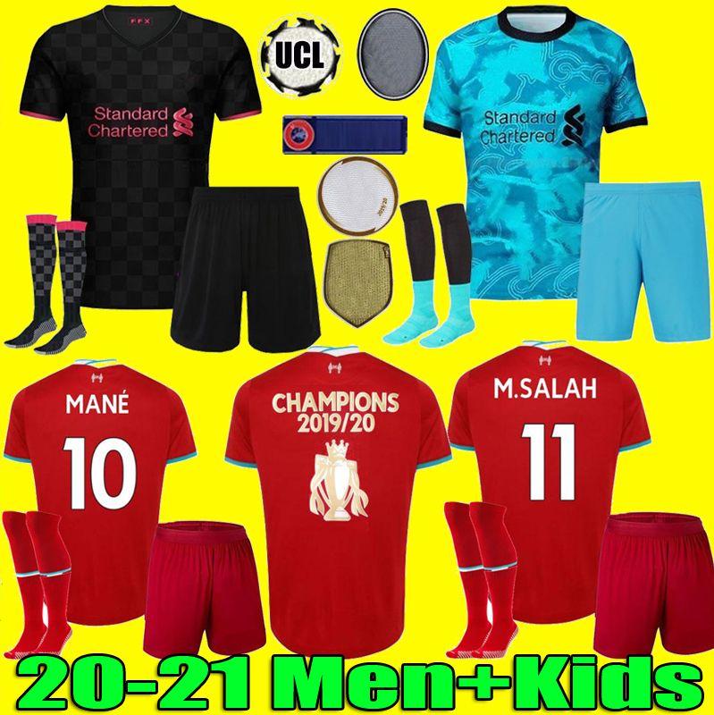 LVP Mohamed M. SALAH FIRMINO soccer jersey football shirts 20 21 VIRGIL MANE KEITA 2020 2021 LİVerpool Men + Kids kit uniforms