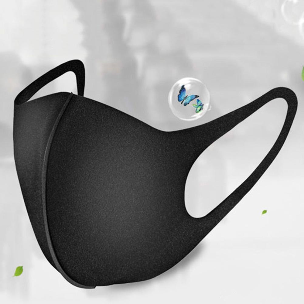 Stok Koruyucu toz geçirmez Pamuk Yüz Siyah Anti-Toz Maskeleri Unisex Yıkanabilir Tekrar Kullanılabilir Siyah Moda Yüz Maskeleri Maske