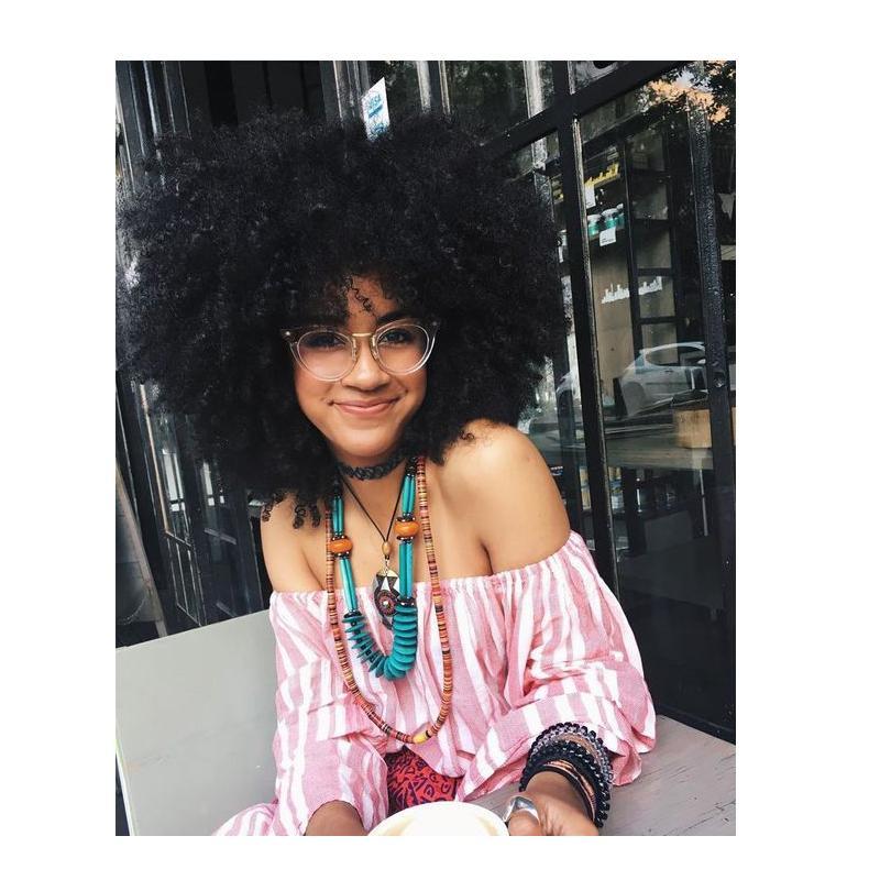 nuove donne di arrivo capelli malesi africano Americ afro breve viziosa bob parrucca riccia naturale Simulazione Capelli afro riccio crespo parrucca