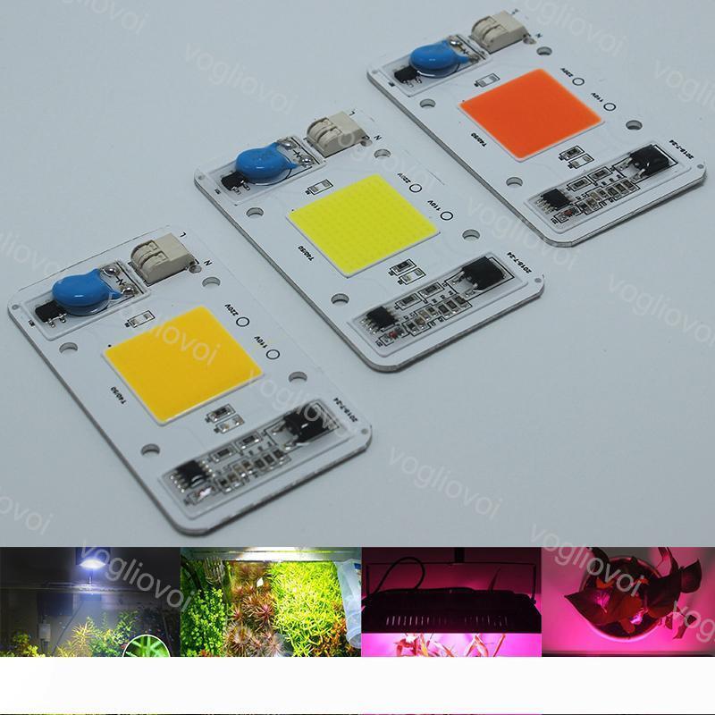 Cuentas de luz de alta potencia de la viruta 50W Full Spectrum blanco cálido crece la luz inteligente IC Drive AC110 220V iluminación Accesorio Para Reflector Highbay EUB