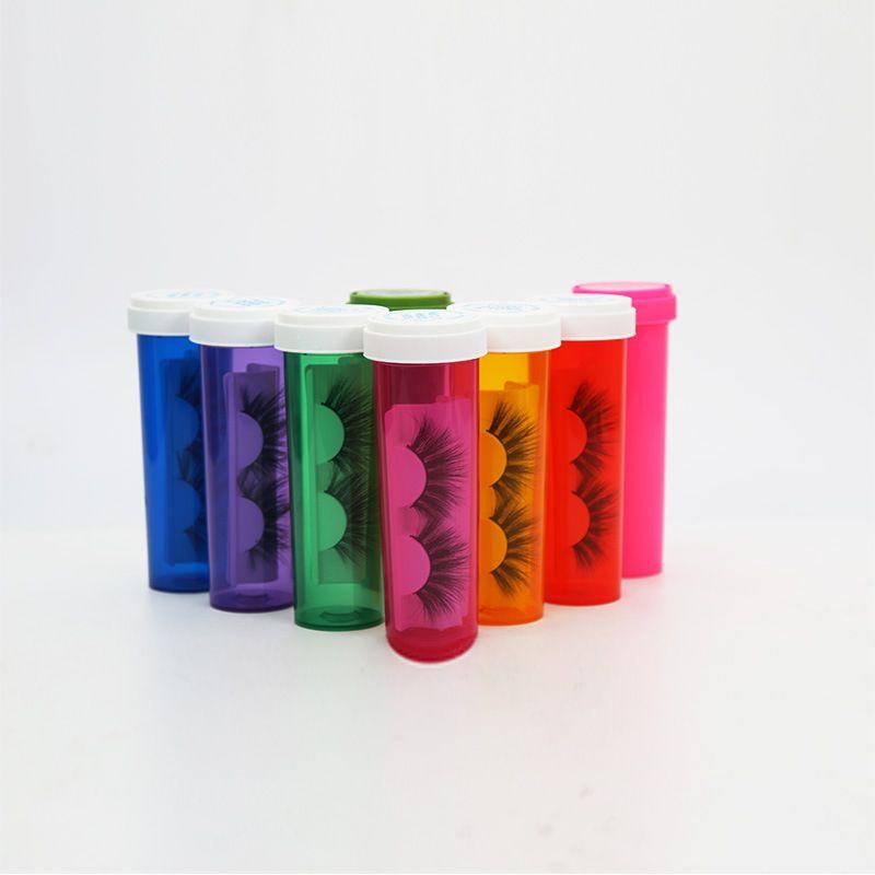 Yanlış Eyelashes Kirpik Kutular alt paketin Şişeler Plastik Mühür Yukarı Çift Amaçlı Kozmetik Ambalaj Kutu Artırma 5 6AD E2 Packaging