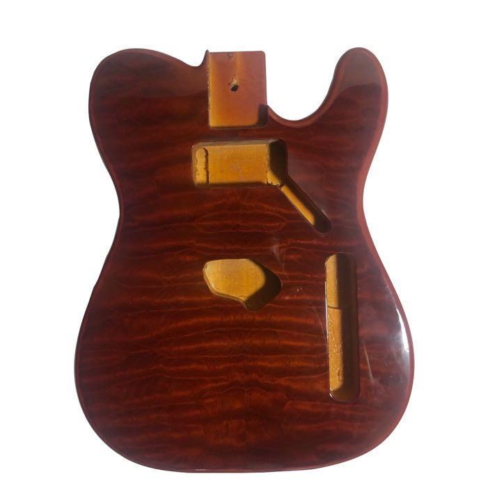 الغيتار باس الجسم استخدام نوعين من القيقب ذات جودة عالية وpaulowniaA متنوعة من الألوان