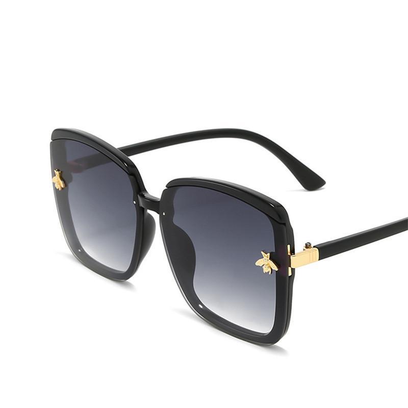 Маленькие очки UV400 Градиентные негабаритные Солнцезащитные очки Женщин Рамка Sun Bee Bear Big Big Luxury Vintage Eyewear 2020 Очки UKBPP