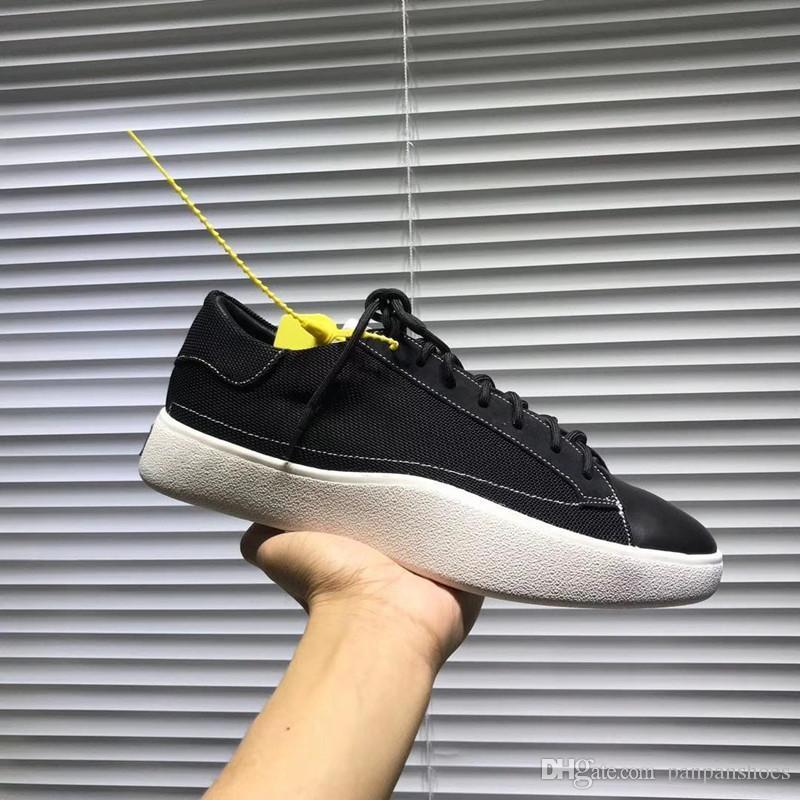 sneakers baixas superiores para homens Luxo leatherSpikes preto moda casual mens as sapatas das mulheres 2019 Designer lazer bzb19081101