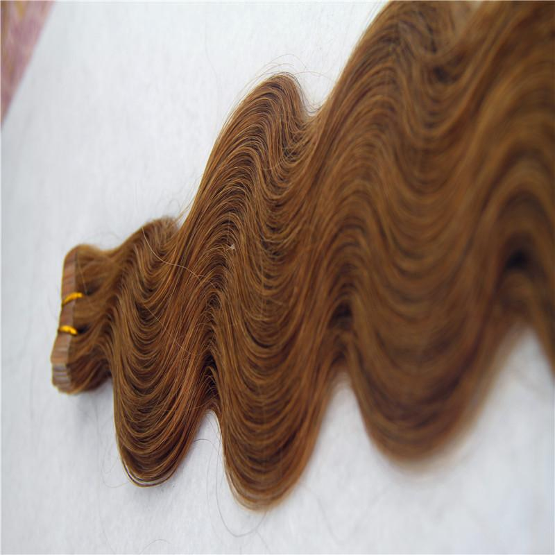 """Cinta Fresa En Non-Remy extensión del pelo humano 12"""" 16"""" 20"""" 20 / 40pcs de la piel del cuerpo del pelo de la onda del pelo de la trama"""