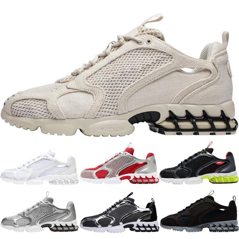 zapatos de moda para hombre corriendo zoom Spiridon zapato de las mujeres Gris claro Negro gris plata metálico Pure Platinum Triple blanca Varsity Red zapatillas de deporte