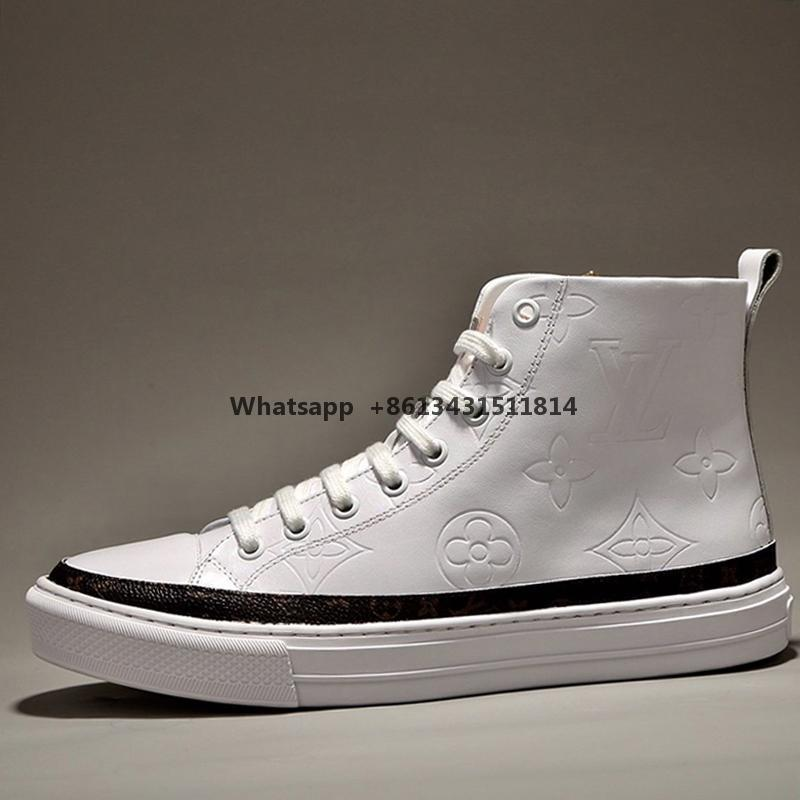 Мода Классический Stellar Sneaker загрузки Мужская обувь Открытый Walking Footwears High Top Casual Lace -До Luxury Men Boots Scarpe Sportive Da Uomo