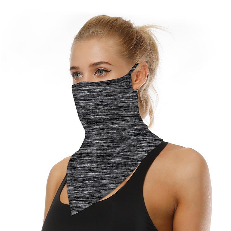 Triangolo esterna Bandana Maschera Hanging Orecchio tubo Sciarpa di seta Buff copertura anti-UV liscio traspirante fascia Uomini Donne