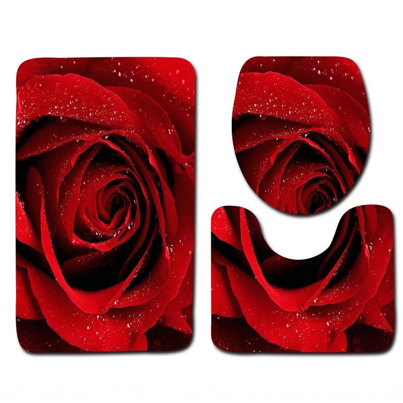 Rosen neues heißes Bad Matten Anti-Rutsch-dreiteilig Rosen neues heißes Bad Matten Teppich Anti-Rutsch-Teppich dreiteilig