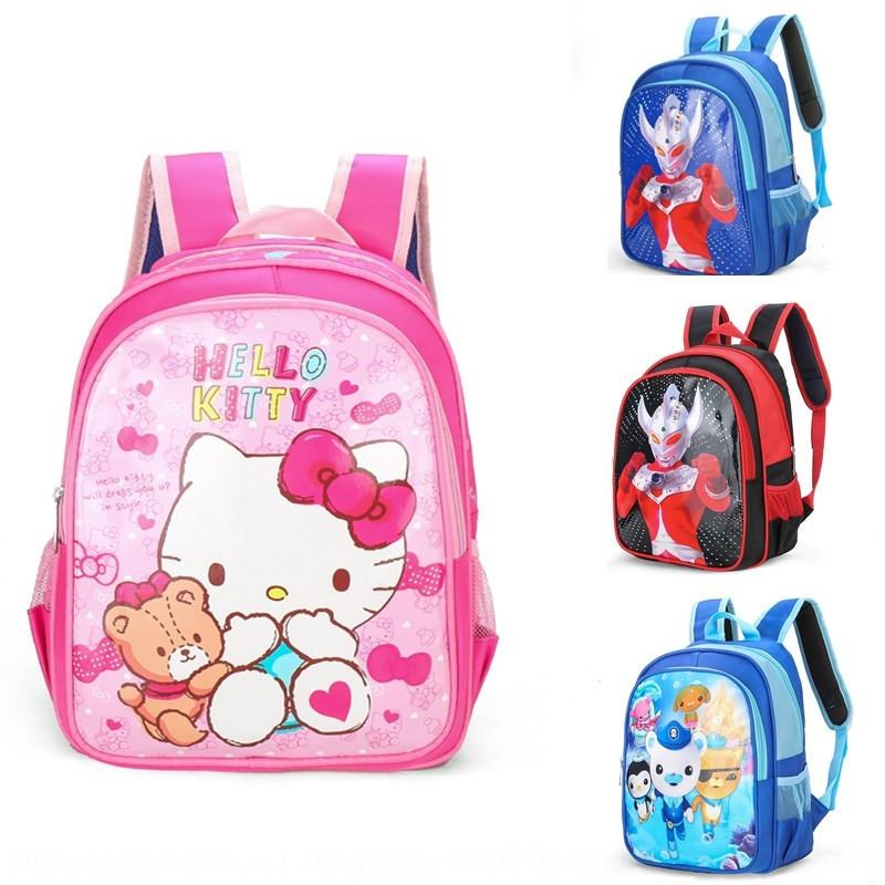 uLA6C 2019 New Cartoon kindergarten children's backpack er tong bao er tong bao School children's bag fashionable boy girl's schoolbag water