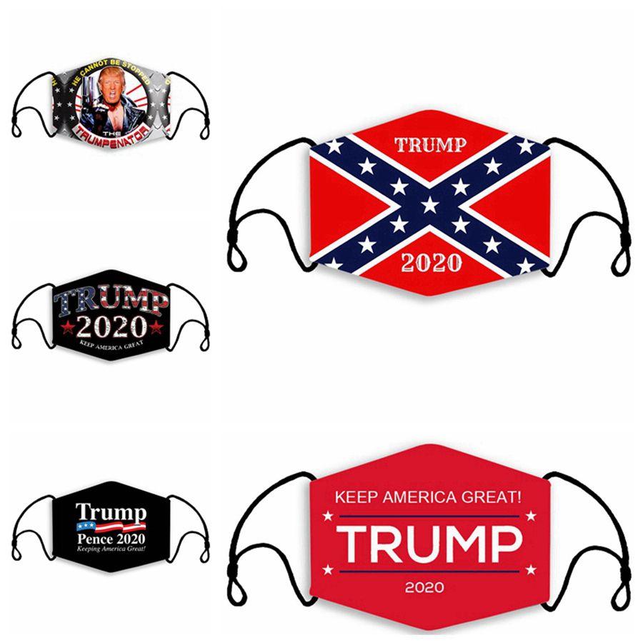 Trump Mascarilla que Estados Unidos sea grande otra vez Máscaras Mississippi Bandera del estado de máscara anti polvo lavables Máscaras del diseñador con 2pcs Filtros RRA3360