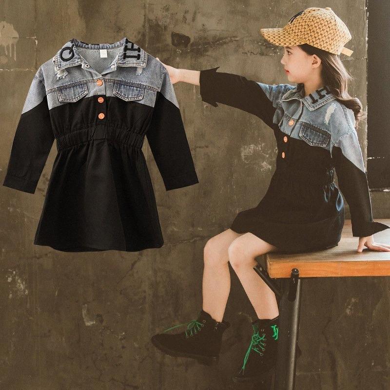 fantasias vestito primavera ragazze infantil menina 2020 7 anni di 12 anni denim abiti a maniche lunghe per bambini xowq #