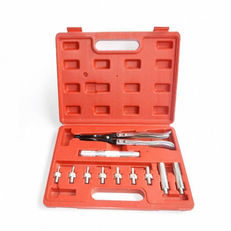 11 dans le joint de valve 1Professional Dissolvant Joint tige de valve auto pince Kit Pince Seating Remover Installer Tool Kit MSx0 #
