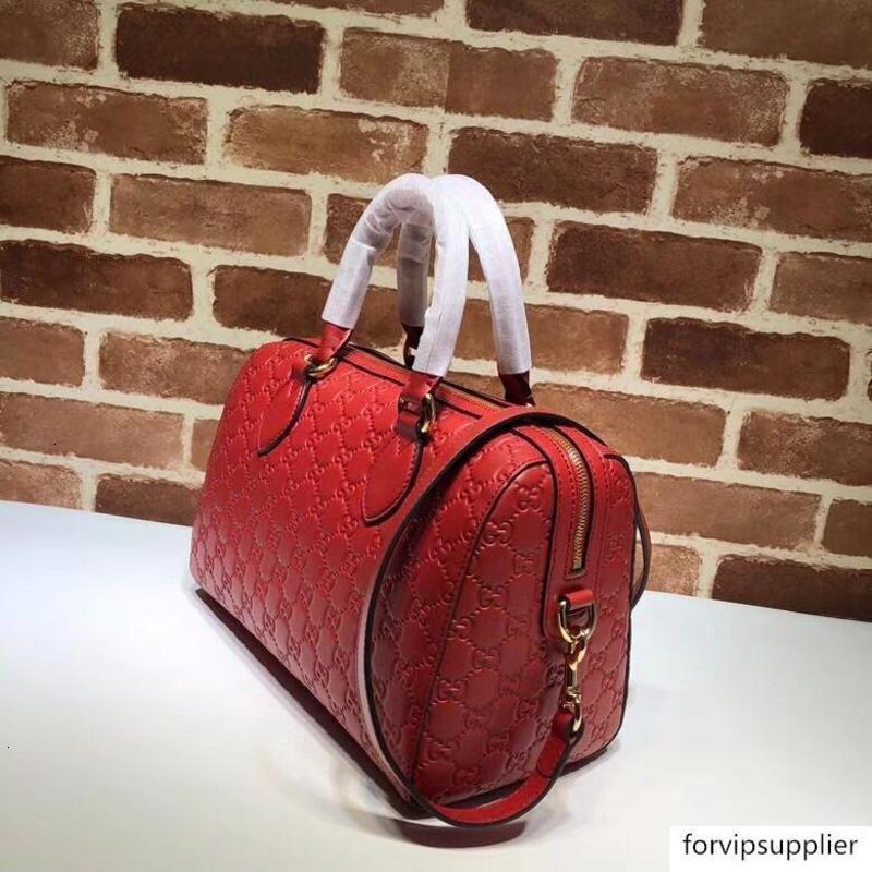 Марка Письмо Тиснение Zipper плеча натуральной кожи Женщина 453573 Подушка дорожная сумка