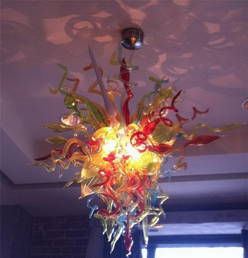 Luminaire de plafond Jolie Maison Lighting Design coloré pour Art Salon Déco 100% soufflés à la bouche Lustre