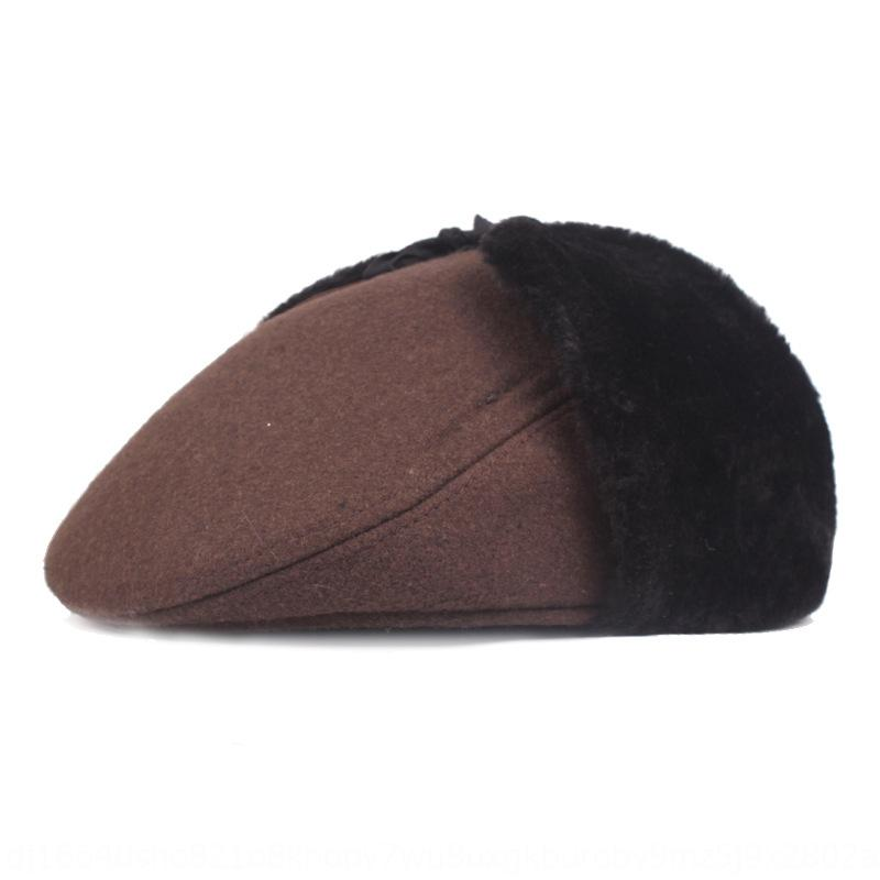 Middle-aged and elderly winter Warm hat thickened ear men's cap warm front cap men's winter hat