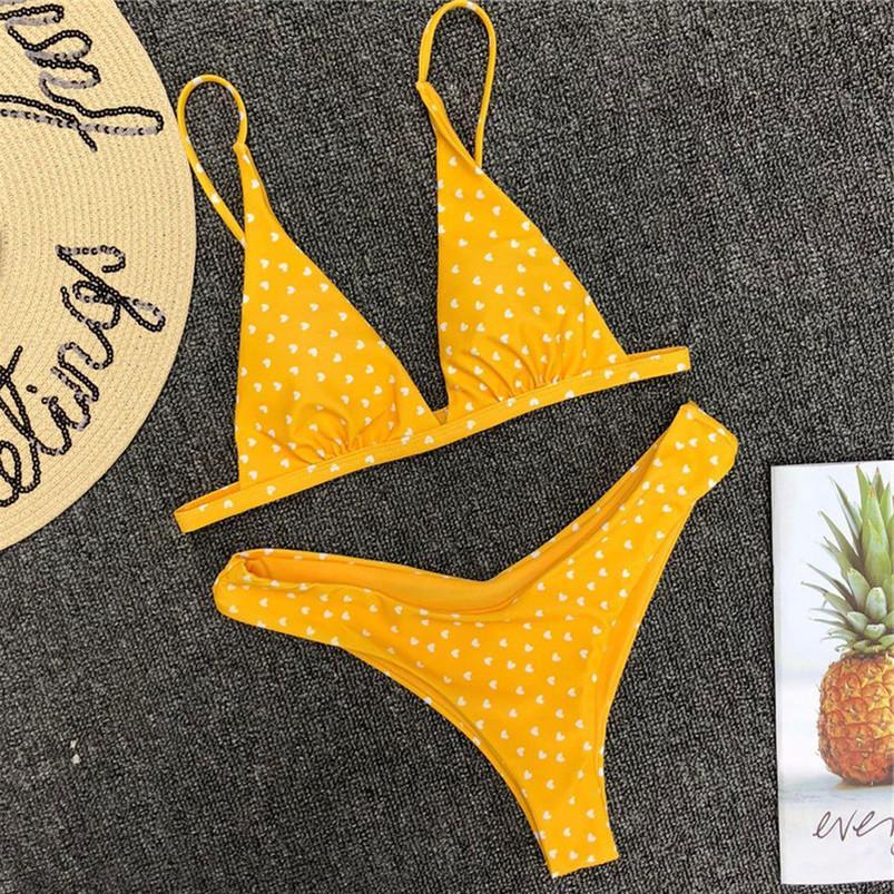 Нажмите Прекрасный сладкое сердце бикини Красный Желтый Черный Swimsuits Sexy Up Купальники Женщины Купальники плавать купальный костюм бикини Бразильское Y