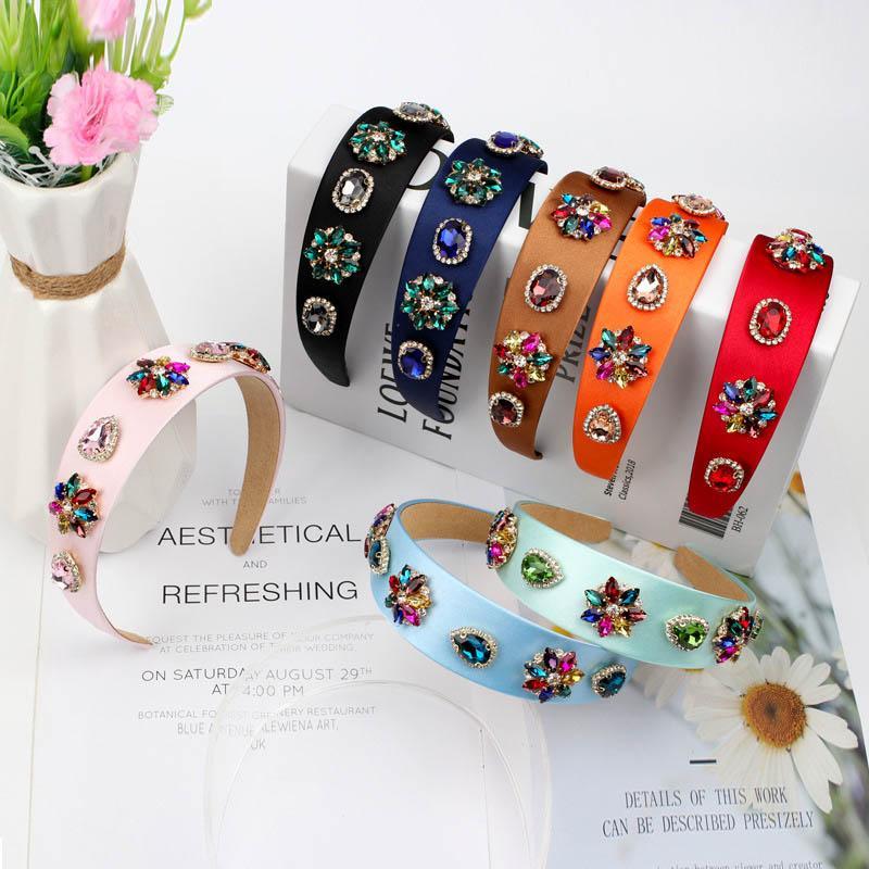INS Boutique femmes fleur de cristal de bâtons de cheveux des femmes de diamant bandeau Accessoires cheveux vintage designer filles pour les femmes B1899