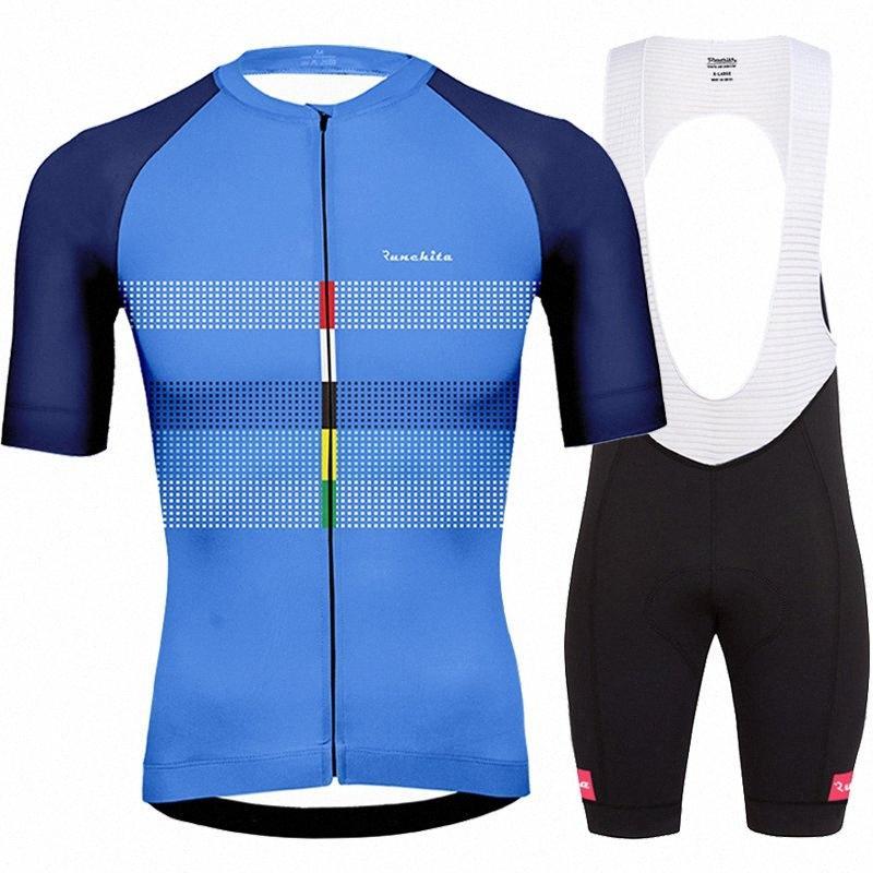 Bretelle ciclismo ropa de hombre 2020 yaz Runchita yanlısı bisiklet giyim kitleri erkekleri gitmek kısa kollu bisiklet takımları roupa ciclismo 7OE1 #
