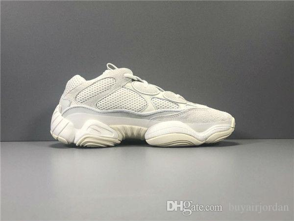 Kutu 500 Allık Kemik Beyaz Untility Siyah Süper Ay Sarı Kanye West Dalga Runner Tasarımcı Sneaker Spor Ayakkabı Koşu Ayakkabıları ile 2019