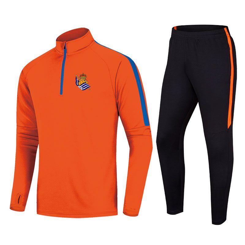Real Sociedad 2020 neue Jacke Fußball-Trainingsanzug kann langen Abschnitt DIY Sport der Männer Laufkleidung Trainingsanzug angepasst werden